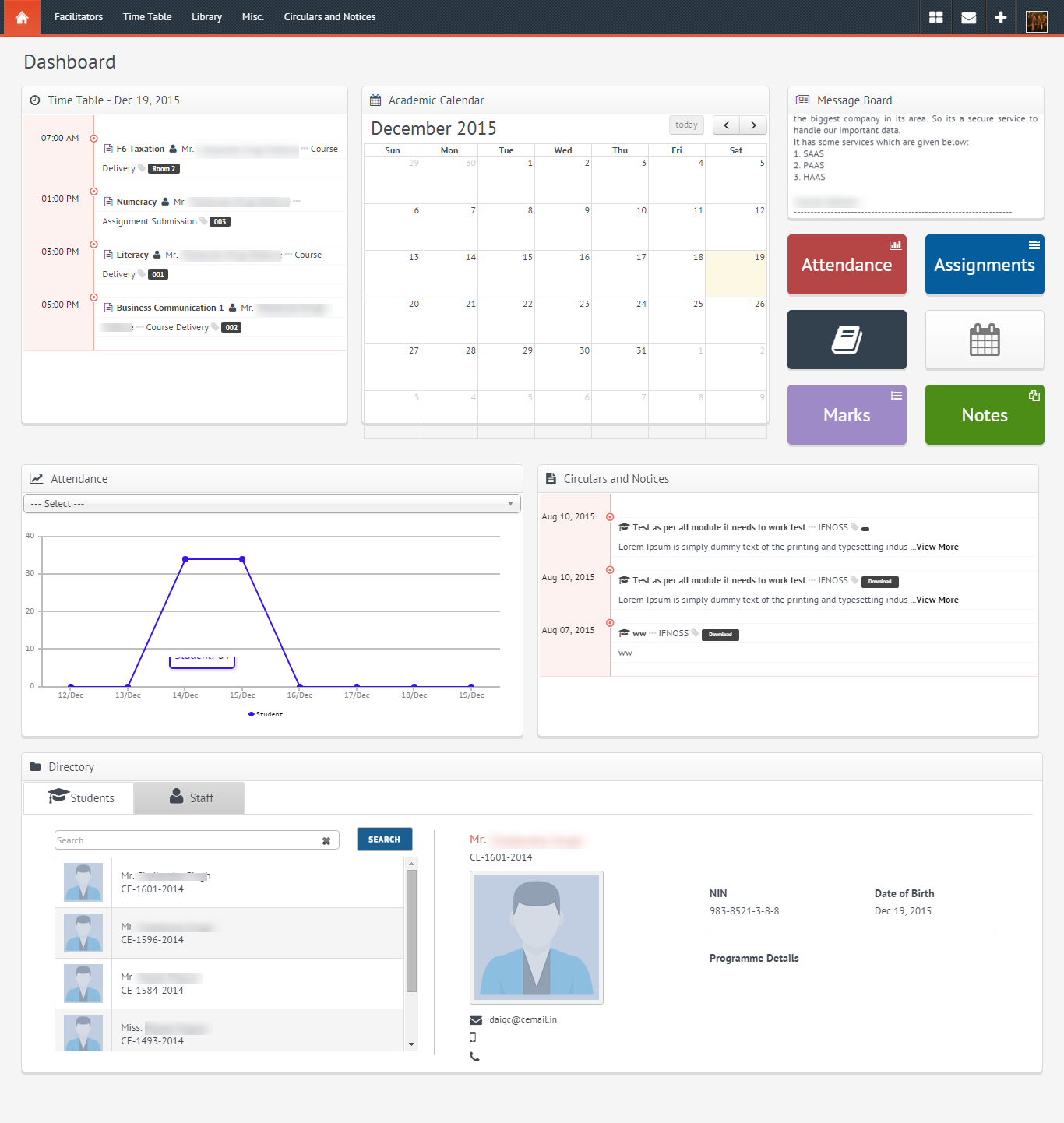 Ifnoss Staff Dashboard